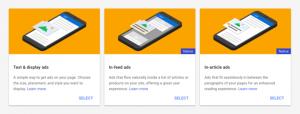 AdSense廣告類型