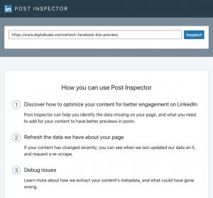 LinkedIn Post Inspector