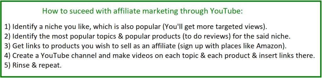如何通过联盟营销在youtube上赚钱