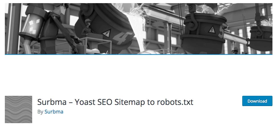 Surbma Yoast SEO sitemap for robots.txt WordPress插件