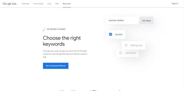 Google關鍵字規劃師最佳seo工具