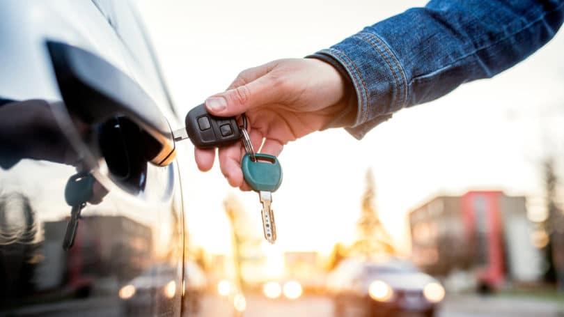 Car Key Sunset